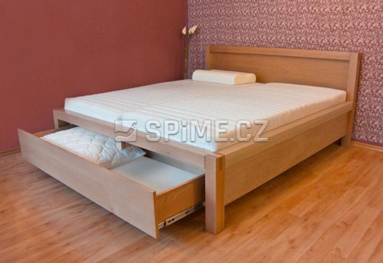22f7b3443214 Postele s úložným prostorem pro malé i velké ložnice